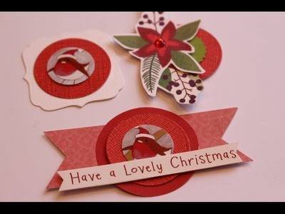 Xmas Embellishments using recycled Xmas cards and paper scraps