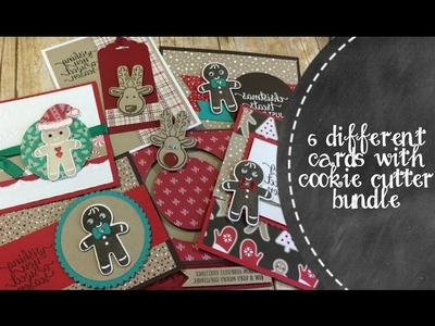 6 Different Cards With Cookie Cutter Stamp & Punch