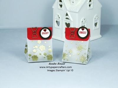 Advent Vellum Gift Bag Treats - Stampin' Up!