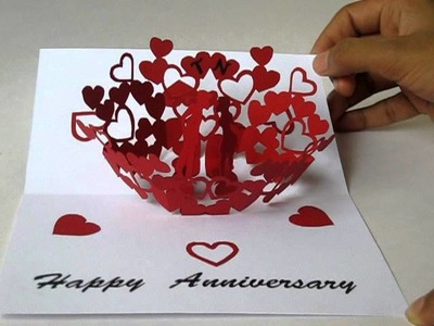 Anniversary pop-up card