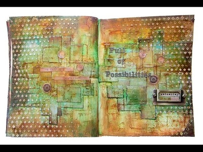Art Journaling Page with 7 Dots Studios by Keren Tamir