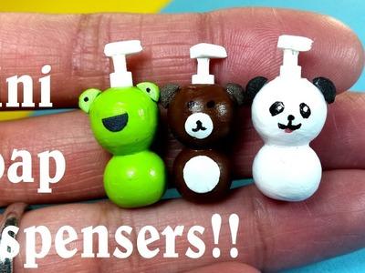 DIY Miniature Soap Dispensers - Panda, Frog, & Teddy Bear