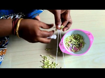 Easy way to string flowers in Tamil
