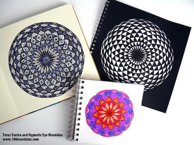 Episode 4:  How to Draw the Torus Yantra and Color the Hypnotic Eye Mandala [Sacred Geometry]