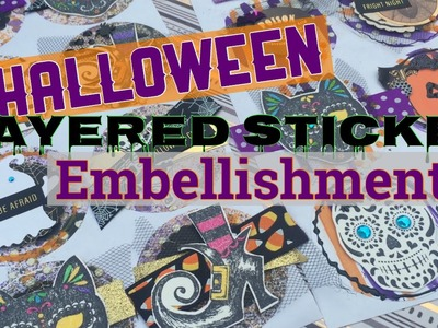 Halloween Layered Sticker Embellishments | I'm A Cool Mom