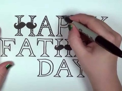 Happy Father's Day Card Drawing Lesson   CC