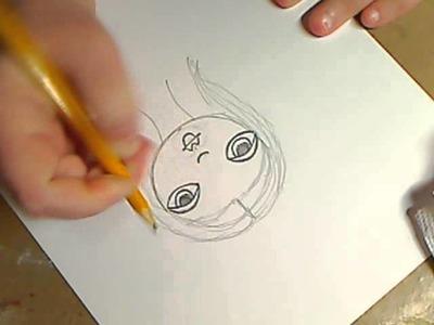 How to draw Folk Art girls
