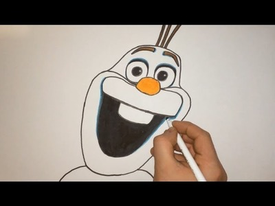 How To Draw Olaf From Frozen Step By Step
