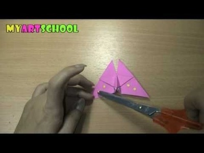 How To Fold A Butterfly ( Origami )