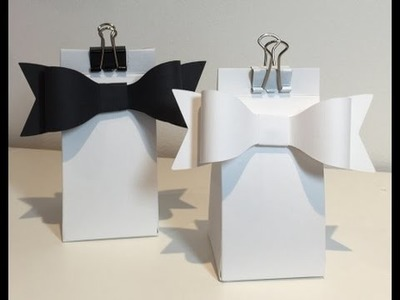 How to make a 2,4,6,8 Box & Free ScanNCut Paper Bow Cutting File