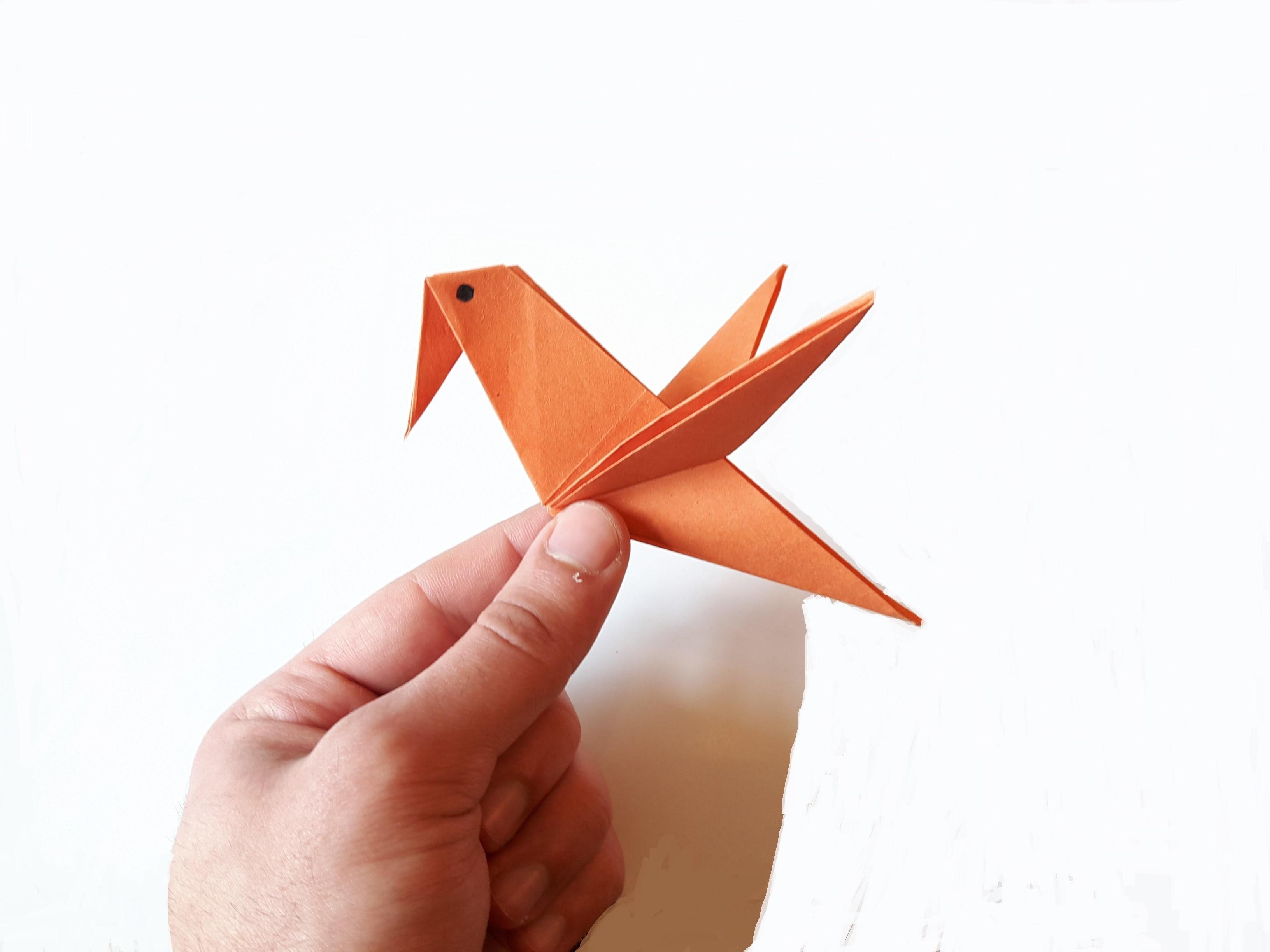 Как из бумаги сделать ворона из бумаги