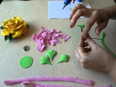 How to make Flowers Gerbera Foam Sheet. . How to make Foam Flower, DIY, Tutorial Foam