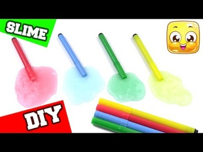 How To Make Slime With Markers DIY SLIME No Borax or Liquid Starch or Detergent