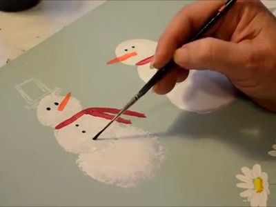 How to Paint a Snowman
