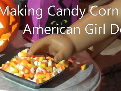Make Halloween Candy Corn for American Girl Dolls