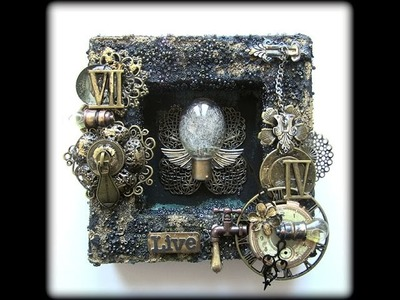 Mixed Media 6x6 Shadow Box canvas with Prima Marketing's Finnabair products