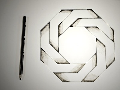 Optical Illusions - How To Draw Twisted Octagon