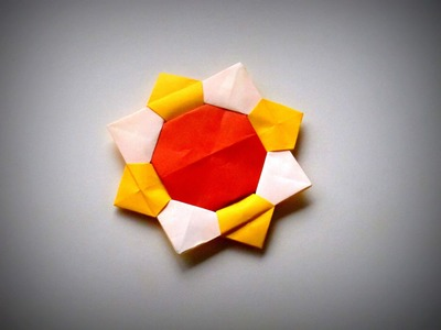 Origami - How to make a SUNFLOWER