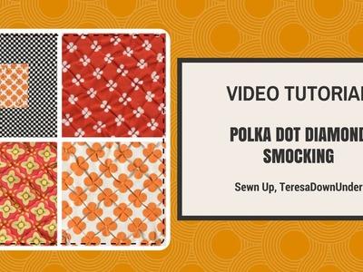 Polka dot diamond smocking video tutorial