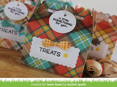 Scalloped Treat Boxes with Perfectly Plaid Fall (Lawn Fawn)
