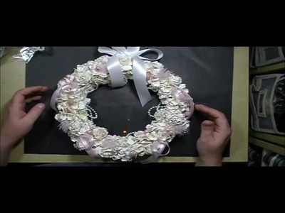 Shabby Chic Christmas Wreath with Cynthialoowho♥