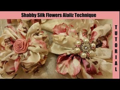 Silk Flower, no sew, Easy, shabby chic tutorial, melting method, by Crafty Devotion, hairpin