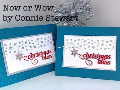 Simply Simple Now or WOW. Flash Card - Stars & Christmas Bliss Card by Connie Stewart