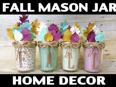Stamping Jill - Fall Mason Jar Home Decor