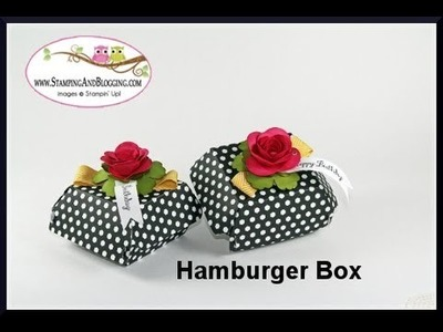 Super Easy Decorated Hamburger Box Tutorial