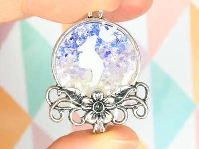 Watch me Resin: Bezel Silhouette with Crushed Shell Gradient