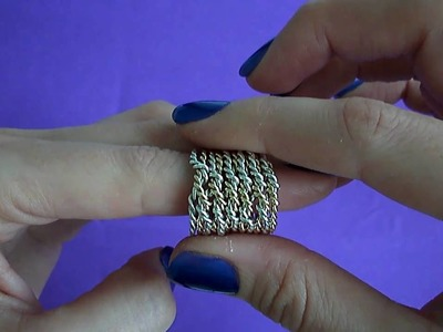 Www.PuzzleJewellery.com 12 band chain puzzle ring solution