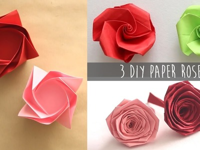 3 Easy DIY Paper Rose