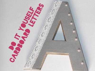 3D CARDBOARD LETTERS (room decor)