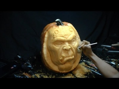 "3D Pumpkin Carving - ""Goblin"" Time Lapse"