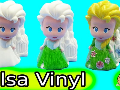 Color It Yourself Disney Frozen Fever Queen Elsa Design A Vinyl Doll Craft Marker Set