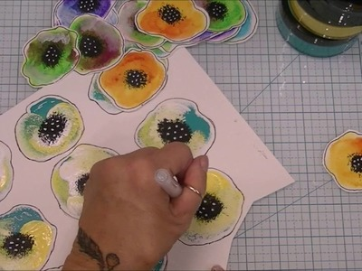 Creating Mixed Media Flowers   7- 9 -16
