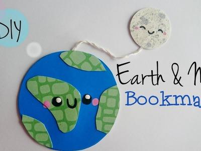 DIY Cute Earth & Moon bookmark