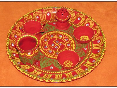 DIY : How To Decorate Pooja Thali. Puja  Thali at Home ( in Hindi ) By Jyoti Sachdeva