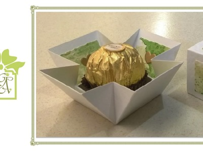 Ferrero Rocher Drop Sided Favour or Treat Box Tutorial (Gift Box Tutorial)