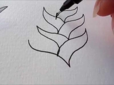 How to draw tanglepattern Dooleedo