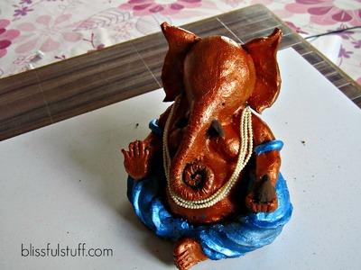 How to make ganesh idol at home with clay, Eco-friendly Ganesha. Ganpati murti