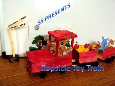 Ice sticks (popsicle stick) toy train
