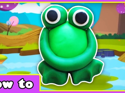 Learn how to make Playdough Frog | Fun Play Doh Creations for kids by Hooplakidz How To
