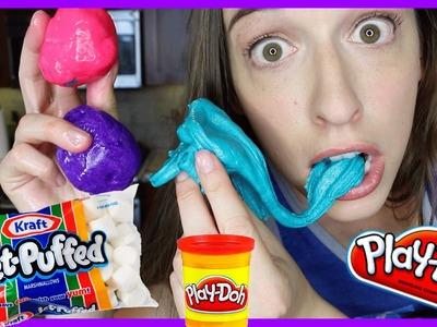 Making Marshmallow Play Doh!!!