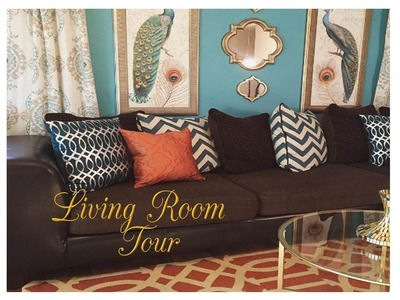 My Very Teal Living Room Tour