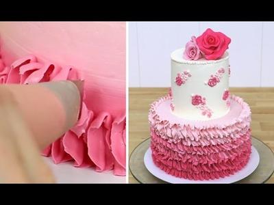 OMBRE Buttercream RUFFLE Cake - Shabby Chic Design by CakesStepbyStep