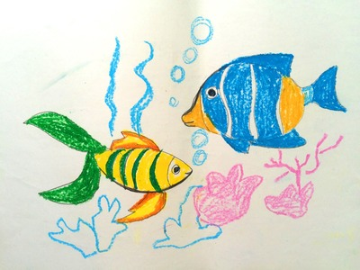 Painting animals for kids | How fun to draw a fish easy | How to paint fish | Art for kids 1