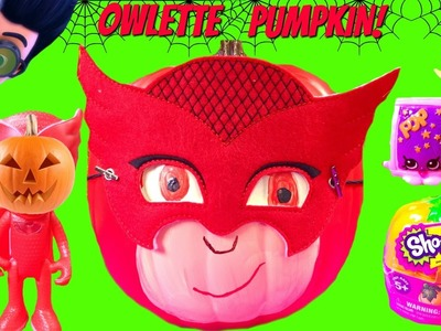 PJ Masks Owlette Turns into a Pumpkin! Halloween Toy Surprises & Candy!