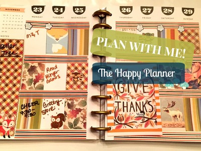 Plan With Me! The Happy Planner | Thanksgiving Week