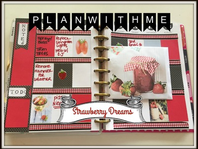 Plan With Me | The Happy Planner & Dollar Tree Planner | STRAWBERRY DREAMS THEME